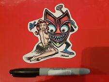 Low Brow Kustom Kulture Art Autocollant Hot Rod Voiture Tiki von Franko Shag Kozik Kruz