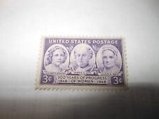 Vintage U.S. Postage 3 Cent 100 Years Of Progress Of Women 1848-1948 Stamp 1948