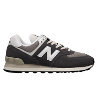 New Balance 574 Men's Grey White Athletic Lifestyle Sneakers Casual Shoes