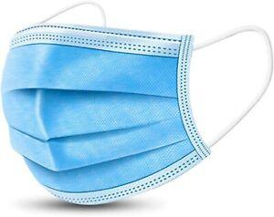 150x Einweg Mundschutz Maske Atemschutz Gesicht Atem Nasen Hygienemaske 3-Lagig