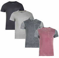 Blend New Men's Slim Fit T-Shirt Stretch Poly Cotton Washed Vintage Look Top