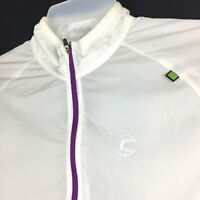 Cannondale Womens Large (42 in Bust) White Full Zip Lightweight Packable Jacket
