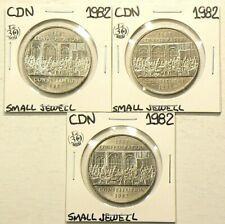 1982 Canada $1 Dollar Small Jewel Variety Lot of 3 From Rolll #4581