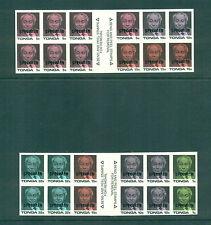 Tonga 1987 Coronation of King Taufa' Ahau Tupou IV SPECIMEN Booklets