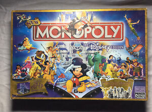Parker Brothers Monopoly Disney Edition With Pop Up Castle Gold Tinkerbell Rare