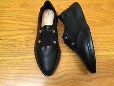 TARYN ROSE DARCY SCRUNCH LEATHER BLACK SHOES NEW SIZE 9