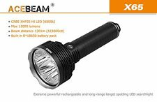 ACEBeam X65 5x Cree XHP35 HI LED 12000lm 1301m Rechargeable Torch