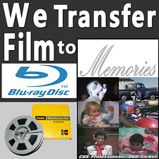 8mm Film to DVD Tansfer Service Includes FREE 1080p High Definition HD Blu-ray