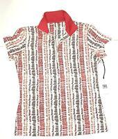 NWT Tail White Label Women's Golf Shirt Size XS Quarter Zip Short Sleeve