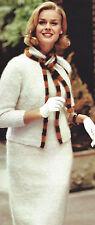 Vintage Knitting PATTERN to make Mohair Dress Sheath Jacket MohairJacketSh