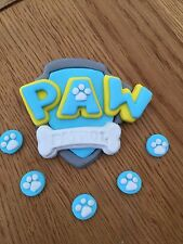 Paw Patrol Edible Cake Topper . Birthday Ice Blue 3D Plus 5 Free Paw Pints