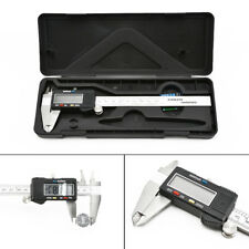"Lcd 6"" Digital Vernier Caliper Stainless Steel Micrometer Electronic Gaug"