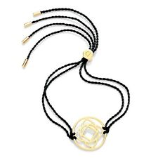 Daisy Jewellery NEW! Black Cord Gold Plated Base Chakra Adjustable Bracelet