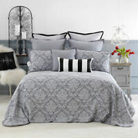 Bianca Fleur Bedspread Set Grey