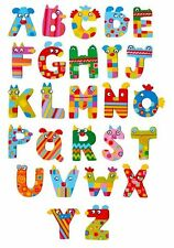 NEW Crazy Animals Wooden Alphabet Letters - order any name,free stickers