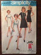 "Vintage 1970's Simplicity #8682 Women's Pattern Size 10, Bust 32.5"""