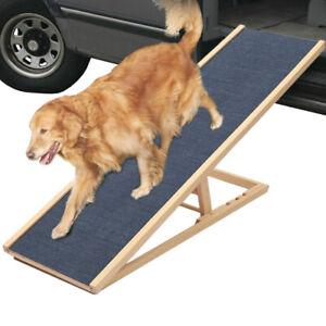 Folding Large Pet Dog Ramp Lightweight Non-slip Adjustable Ladder Step Outdoor