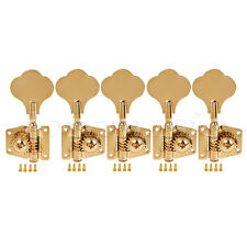 5 String Bass Guitar Tuners Tuning Pegs Keys Machine Heads Open Gear 4R1L Gold