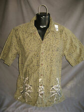 #7352 ROUTE 66 SS CASUAL ALOHA SHIRT MEN'S LARGE pre-owned