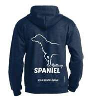 Brittany Spaniel Full Zipped Dog Breed Hoodie, Exclusive Dogeria Design,