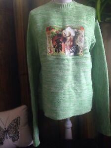 Vintage Jean Paul  Gaultier Jeans Ladies Sweater Size UK 6-12 100% Cotton