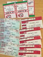 Cincy Reds (11) Ticket Stub Lot Vs Braves, Dodgers 95,96 Piazza HR Maddux LP