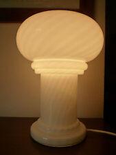Lampada da tavolo in vetro di Murano a fungo anni 70 Venini vintage design lamp