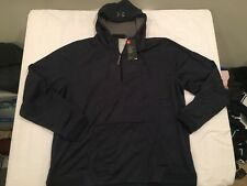 NWT $64.99 Under Armour Mens CG Storm Armour Fleece 1/4 Zip Hoodie Navy Sz 3XL
