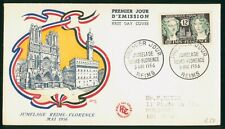 Mayfairstamps France FDC 1956 Reims Florence Women Statues First Day Cover wwp_8