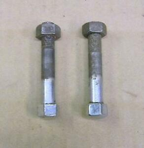 PAIR USED TRIUMPH 500 650 FRONT FORK CEI THREAD PINCH BOLTS WITH NUTS