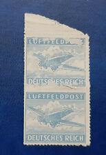 Germany Stamp Deutsches Reich Luftfeldpost 1942 Block of 2 Mi. Nr. 1 (16725)