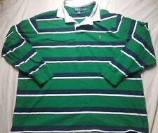 VINTAGE Polo Ralph Lauren Striped Rugby Shirt 4xlt bear ski stadium