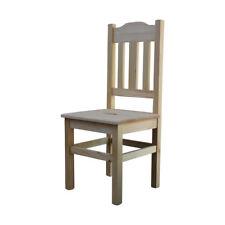 Holzstuhl (HSL-02) Küchenstuhl Esszimmerstuhl mit Lehne Kiefer massiv geölt