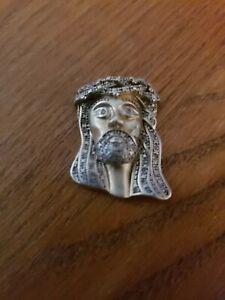 10k Gold  Diamond Jesus Head Piece Charm Pendant Genuine Damaged
