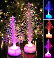LED Color Christmas Tree Changing Mini Merry Xmas Home Table Party Decor Charm