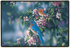 DOOR MATS - BLUEBIRDS IN THE GARDEN DOORMAT - BLUEBIRD DOOR MAT - WELCOME MAT