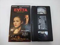 Evita VHS Tape Madonna, Antonio Banderas Musical Movie Andrew Lloyd Weber