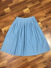 Vtg Size 13/14 Southern Lady Light Blue Pleated A Line Knee Length Skirt