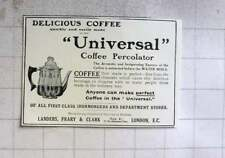 1914 Delicious Coffee, Landers, Prairie, Clark Universal Coffee Percolator