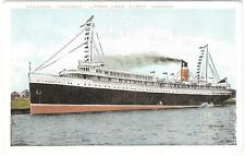 "Steamer ""Hamonic"" Upper Lake Fleet Canada Unused Post Card Valentine - Black Co."