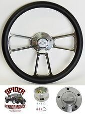 "1969-1990 Caprice Impala steering wheel BOWTIE 13 3/4"" POLISHED BILLET"