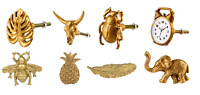 Sass & Belle Golden Elephant Bee Buffalo Scarab Pineapple Leaf Drawer Decor Knob