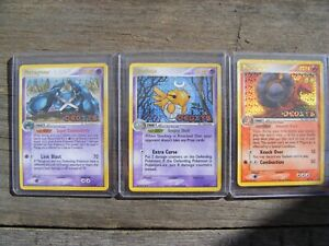 METAGROSS 11/107 SHEDINJA 14 MAGCARGO 20 EX Deoxys REVERSE Pokémon RARE Holo