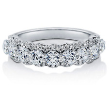 Sterling Silver AAAA Cubic Zirconia Anniversary Half Eternity Ring