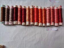 15 bobines de fil de soie Gutermann 12 reels of thread Gutermann silk