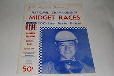 Midget Car Auto Racing Program, Gardena Stadium, April 23 1960 #1