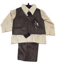 d7f659123a1c Baby Boys 4pcs Formal Wear Shirt Trouser Waistcoat Tie set 3-6 Months party