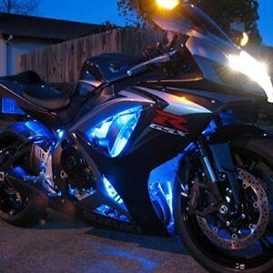 Blue 4pc LED Accent Neon Light Kit - Rock Light Glow for Honda CBR VTX