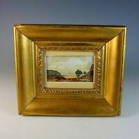 Miniature Landscape Watercolor Painting French School unsigned