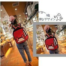 3D Comic Backpack Bookbag Jump Style 2D Drawing Cartoon Paper Shoulder Bag